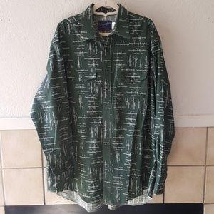 Wrangler Single Needle tailoring pearl snap shirt